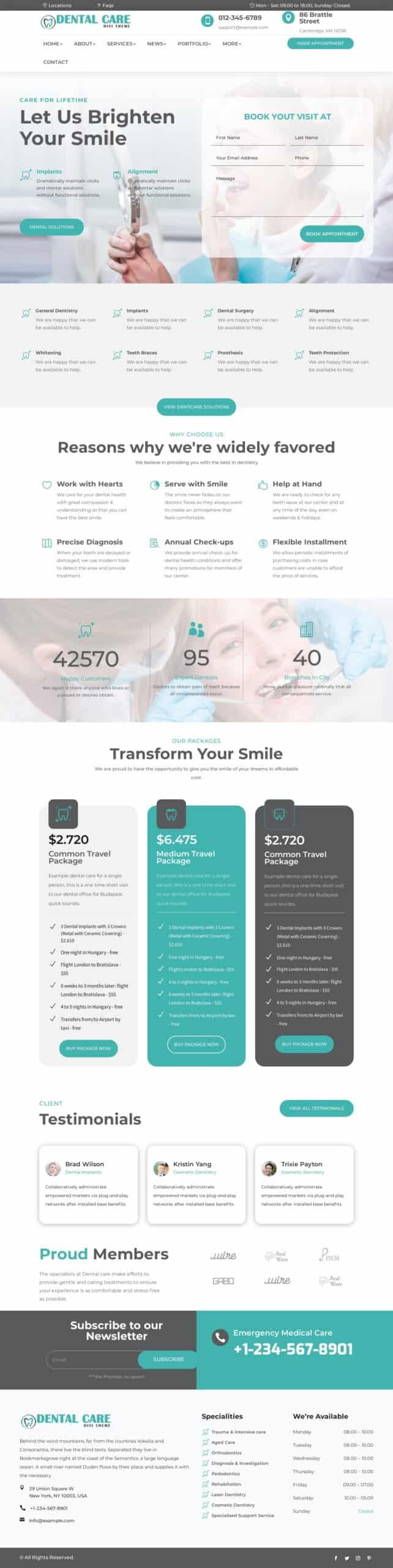 Ejemplo Dental Care
